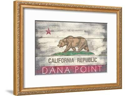 Dana Point, California - Barnwood State Flag-Lantern Press-Framed Art Print