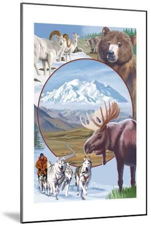 Image Only - Wildlife Montage Scenes-Lantern Press-Mounted Art Print
