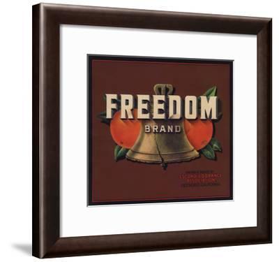 Freedom Brand - Escondido, California - Citrus Crate Label-Lantern Press-Framed Art Print