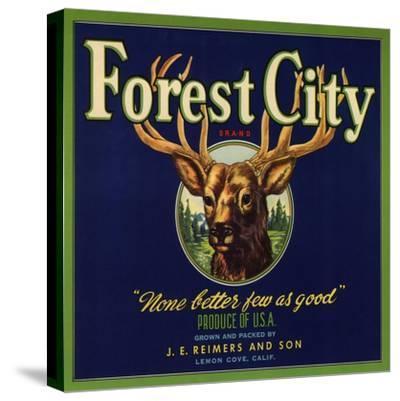 Forest City Brand - Lemon Cove, California - Citrus Crate Label-Lantern Press-Stretched Canvas Print
