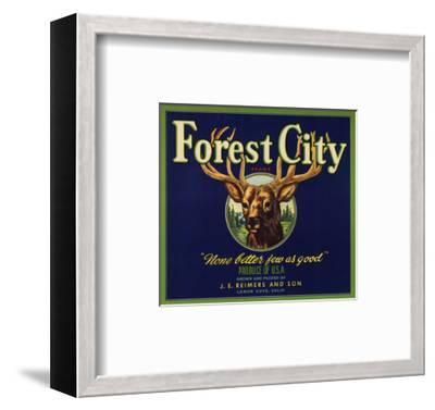 Forest City Brand - Lemon Cove, California - Citrus Crate Label-Lantern Press-Framed Art Print