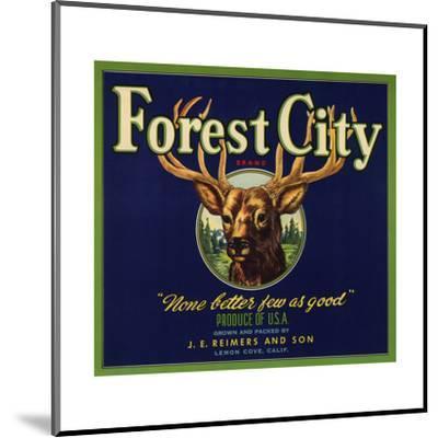 Forest City Brand - Lemon Cove, California - Citrus Crate Label-Lantern Press-Mounted Art Print