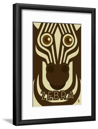 Zoo Faces - Zebra-Lantern Press-Framed Art Print