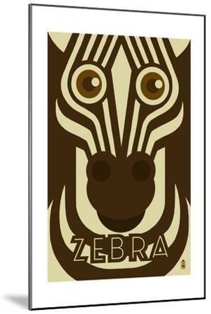 Zoo Faces - Zebra-Lantern Press-Mounted Art Print