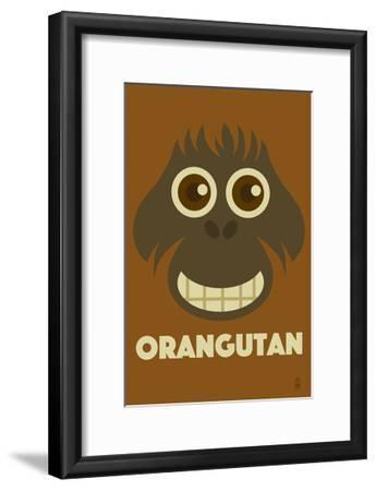 Zoo Faces - Orangutan-Lantern Press-Framed Art Print