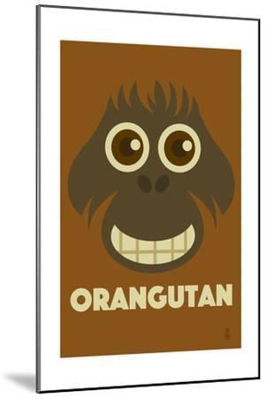 Zoo Faces - Orangutan-Lantern Press-Mounted Art Print