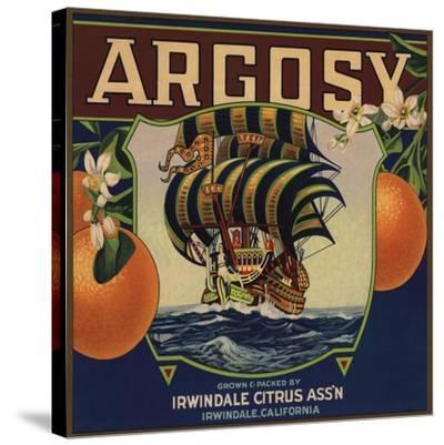Argosy Brand - Irwindale, California - Citrus Crate Label-Lantern Press-Stretched Canvas Print