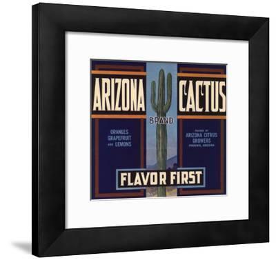 Arizona Cactus Brand - Phoenix, Arizona - Citrus Crate Label-Lantern Press-Framed Art Print