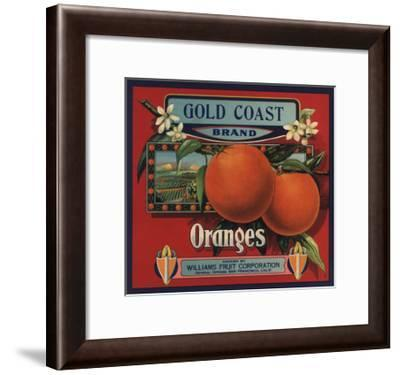 Gold Coast Brand - San Francisco, California - Citrus Crate Label-Lantern Press-Framed Art Print