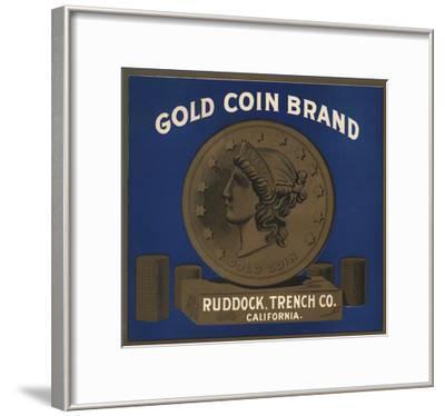 Gold Coin Brand - California - Citrus Crate Label-Lantern Press-Framed Art Print