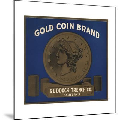 Gold Coin Brand - California - Citrus Crate Label-Lantern Press-Mounted Art Print