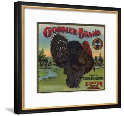 Gobbler Brand - Exeter, California - Citrus Crate Label-Lantern Press-Framed Art Print