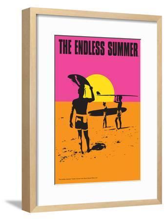 The Endless Summer - Original Movie Poster-Lantern Press-Framed Premium Giclee Print