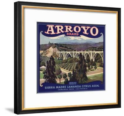 Arroyo Brand - Lamanda Park, California - Citrus Crate Label-Lantern Press-Framed Art Print