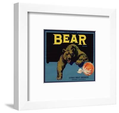 Bear Brand - Ontario, California - Citrus Crate Label-Lantern Press-Framed Art Print