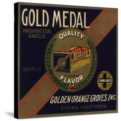 Gold Medal Brand - Covina, California - Citrus Crate Label-Lantern Press-Stretched Canvas Print