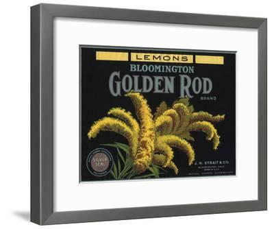 Golden Rod Brand - Bloomington, California - Citrus Crate Label-Lantern Press-Framed Art Print