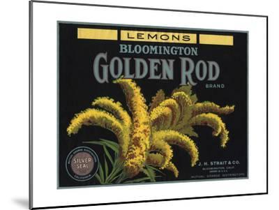 Golden Rod Brand - Bloomington, California - Citrus Crate Label-Lantern Press-Mounted Art Print