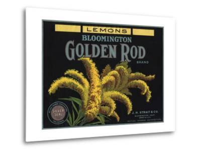 Golden Rod Brand - Bloomington, California - Citrus Crate Label-Lantern Press-Metal Print
