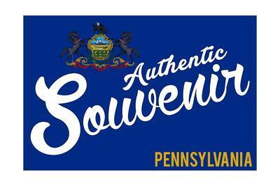 Visited Pennsylvania - Authentic Souvenir-Lantern Press-Framed Art Print