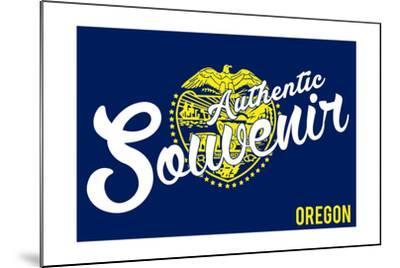 Visited Oregon - Authentic Souvenir-Lantern Press-Mounted Art Print