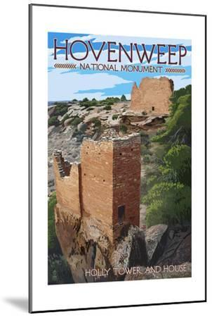 Hovenweep National Monument, Colorado - Holly Tower and House-Lantern Press-Mounted Art Print