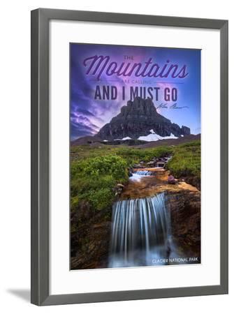 Glacier National Park, Montana - the Mountains are Calling-Lantern Press-Framed Art Print