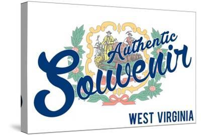 Visited West Virginia - Authentic Souvenir-Lantern Press-Stretched Canvas Print