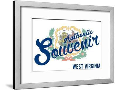 Visited West Virginia - Authentic Souvenir-Lantern Press-Framed Art Print