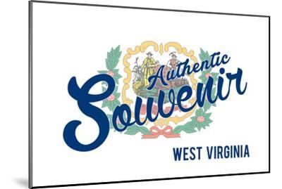 Visited West Virginia - Authentic Souvenir-Lantern Press-Mounted Art Print