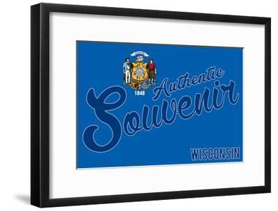 Visited Wisconsin - Authentic Souvenir-Lantern Press-Framed Art Print