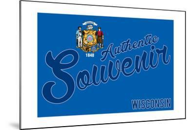 Visited Wisconsin - Authentic Souvenir-Lantern Press-Mounted Art Print