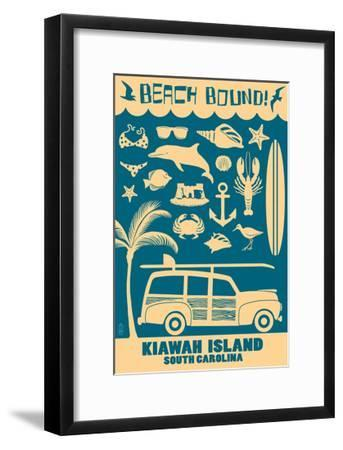 Kiawah Island, South Carolina (#3) - Coastal Icons-Lantern Press-Framed Art Print