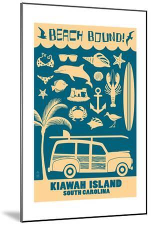 Kiawah Island, South Carolina (#3) - Coastal Icons-Lantern Press-Mounted Art Print