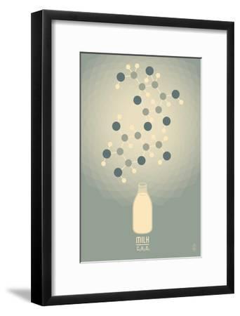 Milk - Chemical Elements-Lantern Press-Framed Art Print