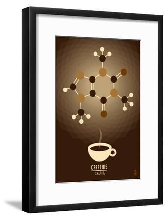Caffeine - Chemical Elements-Lantern Press-Framed Art Print