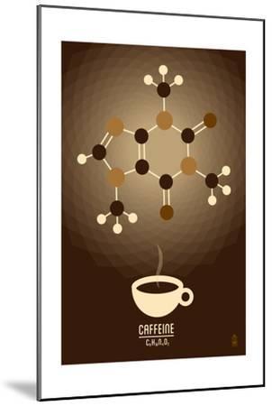 Caffeine - Chemical Elements-Lantern Press-Mounted Art Print