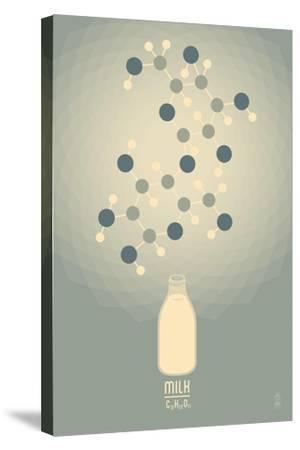 Milk - Chemical Elements-Lantern Press-Stretched Canvas Print