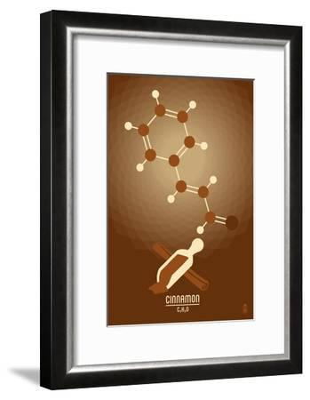 Cinnamon - Chemical Elements-Lantern Press-Framed Art Print