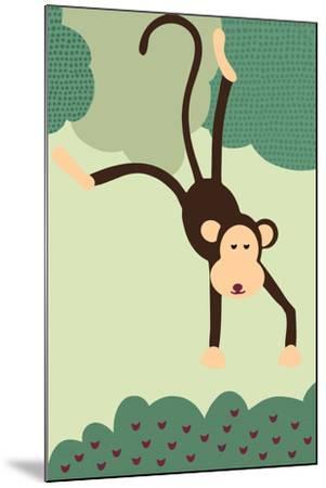 Simple Monkey - Green-Lantern Press-Mounted Art Print