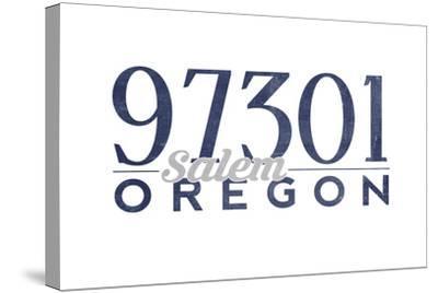 Salem, Oregon - 97301 Zip Code (Blue)-Lantern Press-Stretched Canvas Print