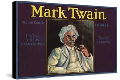 Mark Twain Brand - Tustin, California - Citrus Crate Label-Lantern Press-Stretched Canvas Print