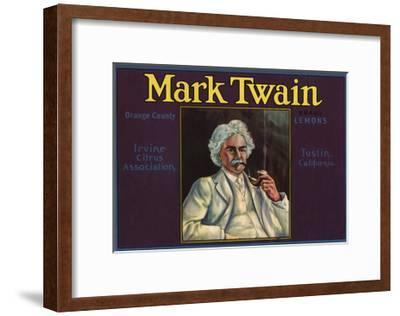 Mark Twain Brand - Tustin, California - Citrus Crate Label-Lantern Press-Framed Art Print
