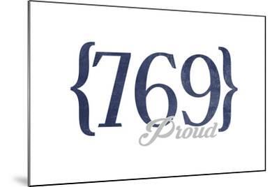 Jackson, Mississippi - 769 Area Code (Blue)-Lantern Press-Mounted Art Print