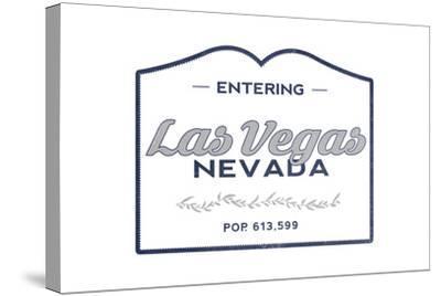 Las Vegas, Nevada - Now Entering (Blue)-Lantern Press-Stretched Canvas Print