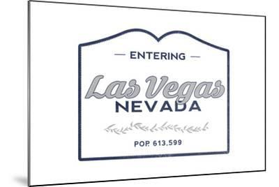 Las Vegas, Nevada - Now Entering (Blue)-Lantern Press-Mounted Art Print