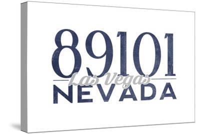 Las Vegas, Nevada - 89101 Zip Code (Blue)-Lantern Press-Stretched Canvas Print