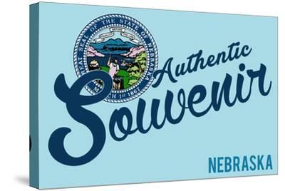 Visited Nebraska - Authentic Souvenir-Lantern Press-Stretched Canvas Print