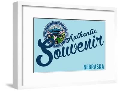 Visited Nebraska - Authentic Souvenir-Lantern Press-Framed Art Print