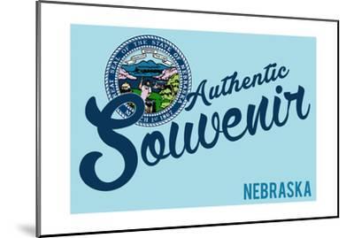 Visited Nebraska - Authentic Souvenir-Lantern Press-Mounted Art Print